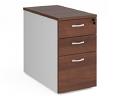 Relax Three Drawer Deluxe Desk High Pedestal 800mm Depth