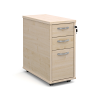 Tall Slimline Three Drawer Mobile Pedestal
