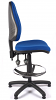 Juno High Back Draughtsman Chair - Blue - Side