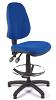 Juno High Back Draughtsman Chair - Blue