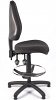 Juno High Back Draughtsman Chair - Charcoal - Side