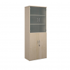 Relax Universal Combination Units With Wood & Glass Doors And Solid Back Pane