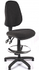 Juno High Back Draughtsman Chair - Charcoal