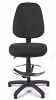 Juno High Back Draughtsman Chair - Charcoal - Front