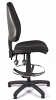 Juno High Back Draughtsman Chair - Black - Side
