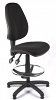 Juno High Back Draughtsman Chair - Black