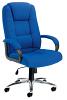 Keno Fabric Executive Chair - Chrome