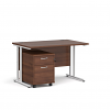 Relax Straight Desk 800mm deep with two drawer pedestal