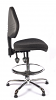 Juno Chrome Medium Back Draughtsman Chair - Charcoal1