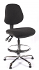 Juno Chrome Medium Back Draughtsman Chair - Charcoal2