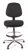 Juno Chrome Medium Back Draughtsman Chair - Charcoal3
