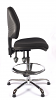 Juno Chrome Medium Back Draughtsman Chair - Black1