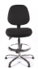 Juno Chrome Medium Back Draughtsman Chair - Black3