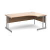 Relax Momento left $ Right-hand ergonomic desk with silver cantilever frame