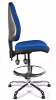 Juno Chrome High Back Draughtsman Chair - Blue1