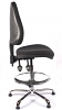 Juno Chrome High Back Draughtsman Chair - Charcoal1