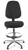 Juno Chrome High Back Draughtsman Chair - Charcoal3