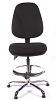 Juno Chrome High Back Draughtsman Chair - Black3