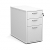 Relax Desk high 3 drawer pedestal with silver handles