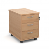 Relax Mobile Two & Three drawer pedestal with silver handles