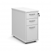 Relax Tall slimline mobile 3 drawer pedestal with silver handles
