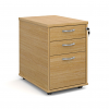 Relax Tall mobile 3 drawer pedestal with silver handles 426mm width