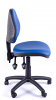 Juno Vinyl Medium Back Operator Chair - Light Blue - Side