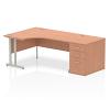 Impulse 1600 Left Hand Cantilever Workstation 800mm Depth Pedestal Bundle