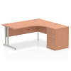 Impulse 1600 Right Hand Cantilever Workstation 600 Pedestal Bundle