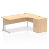 Impulse 1800 Right Hand Cantilever Workstation 600mm Depth Pedestal Bundle