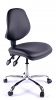 Juno Chrome Vinyl Medium Back Operator Chair - Black2
