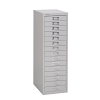 Bisley 15 Drawer Home 39 Series Steel Multidrawer - Goose Grey