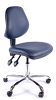 Juno Chrome Vinyl Medium Back Operator Chair - Dark Blue2