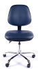 Juno Chrome Vinyl Medium Back Operator Chair - Dark Blue3