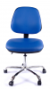 Juno Chrome Vinyl Medium Back Operator Chair - Light Blue3