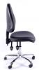 Juno Chrome Vinyl High Back Operator Chair - Black1