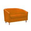 TUB LUX SOFA WOOD-orange