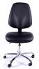 Juno Chrome Vinyl High Back Operator Chair - Black3