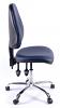 Juno Chrome Vinyl High Back Operator Chair - Dark Blue1
