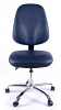 Juno Chrome Vinyl High Back Operator Chair - Dark Blue3
