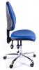 Juno Chrome Vinyl High Back Operator Chair - Light Blue1