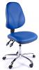 Juno Chrome Vinyl High Back Operator Chair - Light Blue2