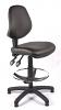 Juno Vinyl Medium Back Draughtsman Chair - Black2