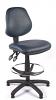 Juno Vinyl Medium Back Draughtsman Chair - Dark Blue2