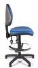 Juno Vinyl Medium Back Draughtsman Chair - Light Blue1