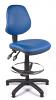 Juno Vinyl Medium Back Draughtsman Chair - Light Blue2