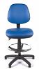 Juno Vinyl Medium Back Draughtsman Chair - Light Blue3