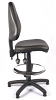 Juno Vinyl High Back Draughtsman Chair - Black1