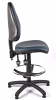 Juno Vinyl High Back Draughtsman Chair - Dark Blue1