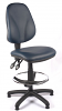 Juno Vinyl High Back Draughtsman Chair - Dark Blue2